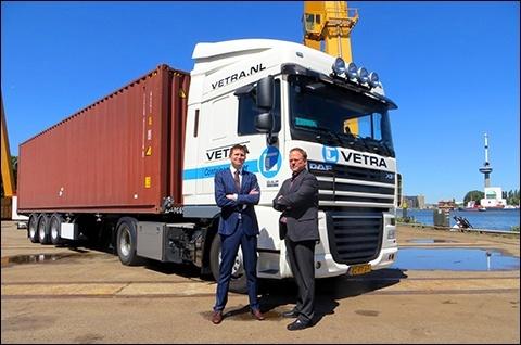 VETRA Containervervoer enthousiast over service Melding Import Documentatie