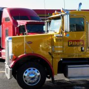 Truck op parkeerplaats